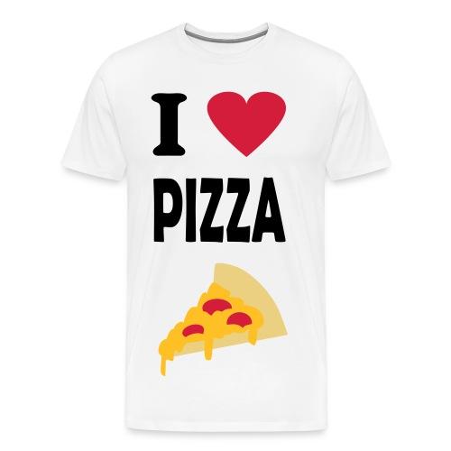 Kingsmileys - I love PIZZA - Men's Premium T-Shirt