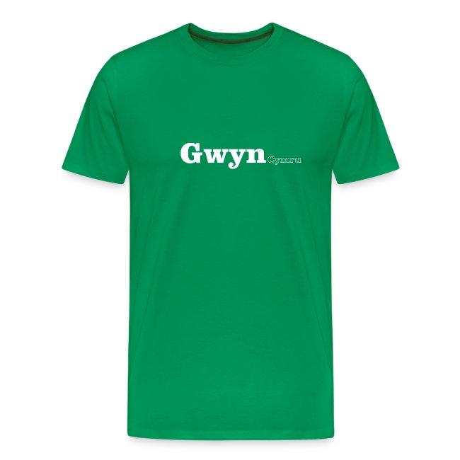 Gwyn Cymru white text