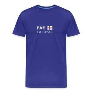 Classic T-Shirt FAE FØROYAR white-lettered - Men's Premium T-Shirt