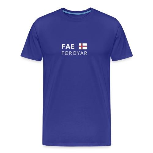 Classic T-Shirt FAE FØROYAR white-lettered - Men's Premium T-Shirt