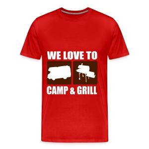 Camp & Grill - Männer Premium T-Shirt