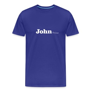 John wales white text - Men's Premium T-Shirt