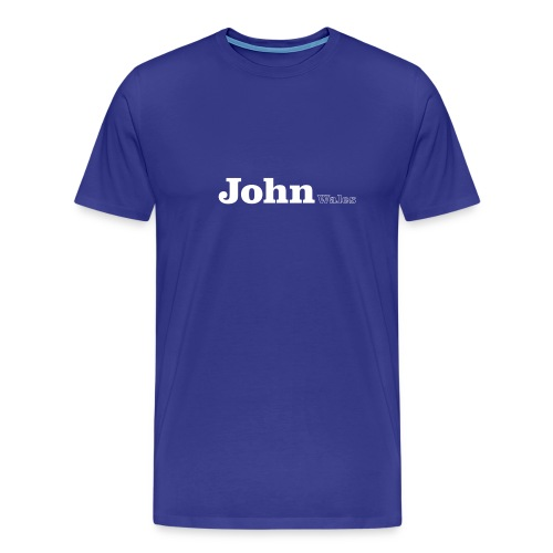 John wales white text - Men's Premium T-Shirt