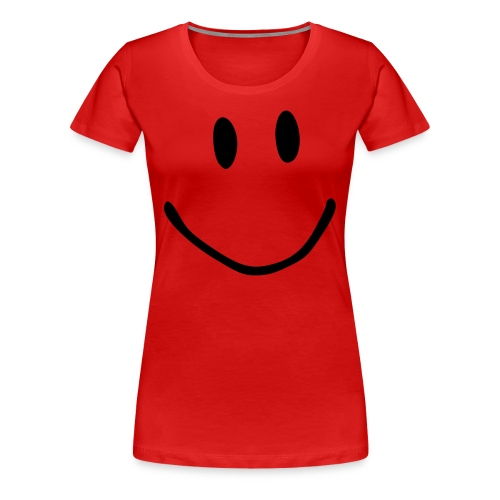 Smile red tee - Women's Premium T-Shirt