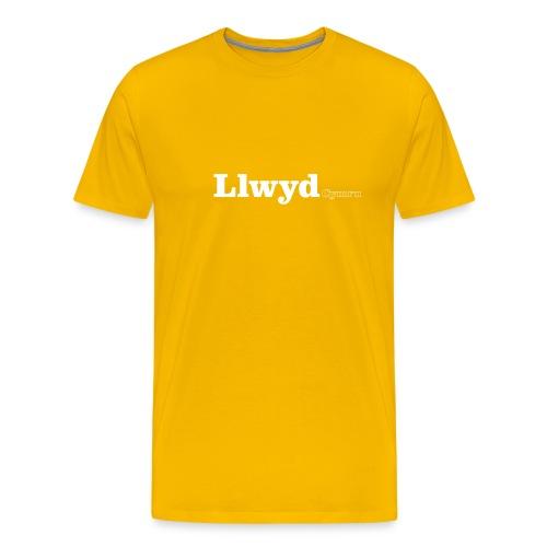 Llwyd Cymru white text - Men's Premium T-Shirt