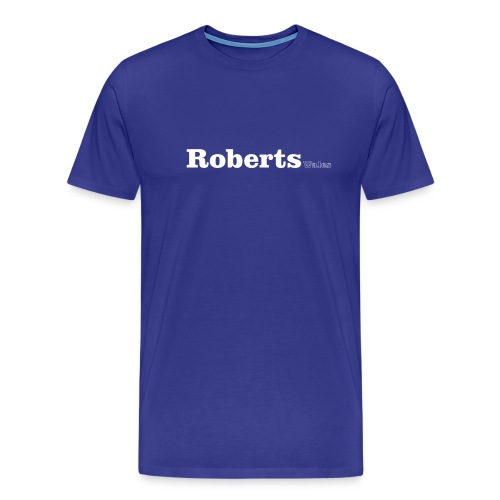 Roberts Wales white text - Men's Premium T-Shirt