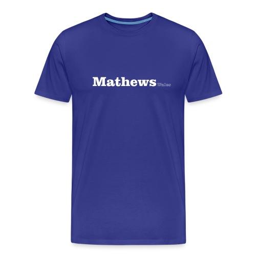 Mathews Wales white text - Men's Premium T-Shirt