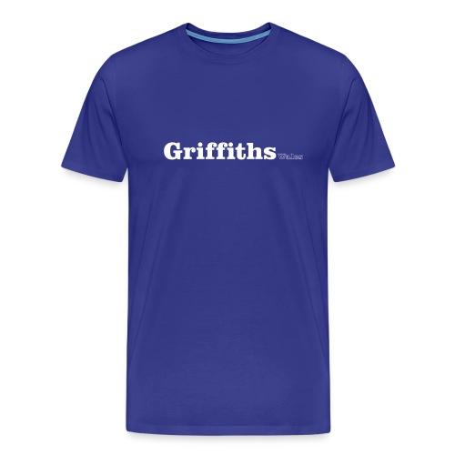 Griffiths Wales white text - Men's Premium T-Shirt