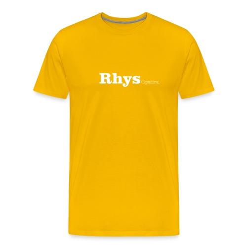 Rhys Cymru white text - Men's Premium T-Shirt