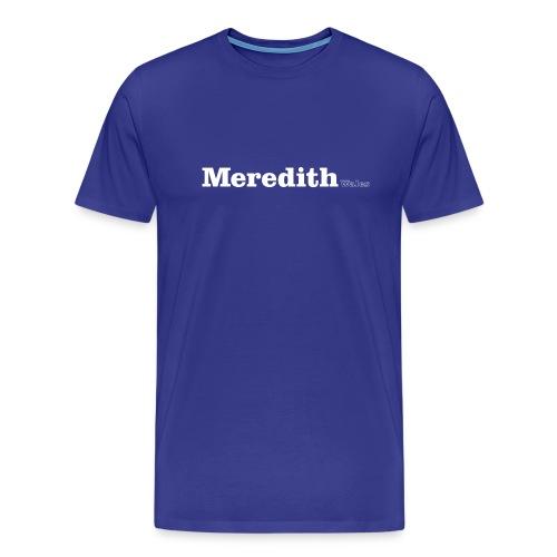 Meredith Wales white text - Men's Premium T-Shirt