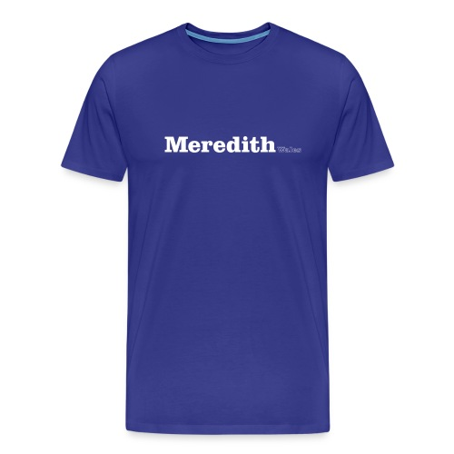 Meredith Wales white text - Men's Premium T-Shirt