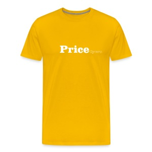 Price Cymru white text - Men's Premium T-Shirt