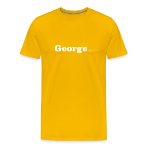 George Cymru white text - Men's Premium T-Shirt