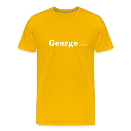 George Cymru white text - Men's Premium T-Shirt