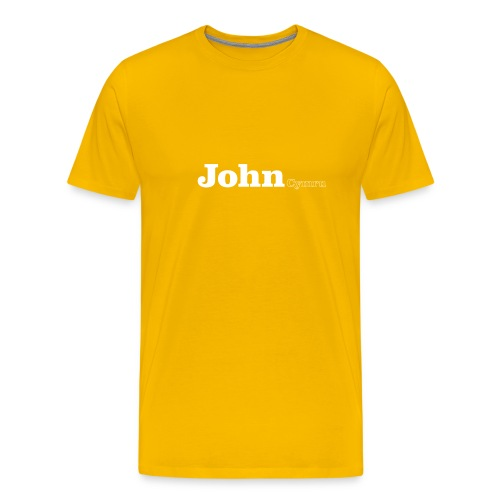 John Cymru white text - Men's Premium T-Shirt