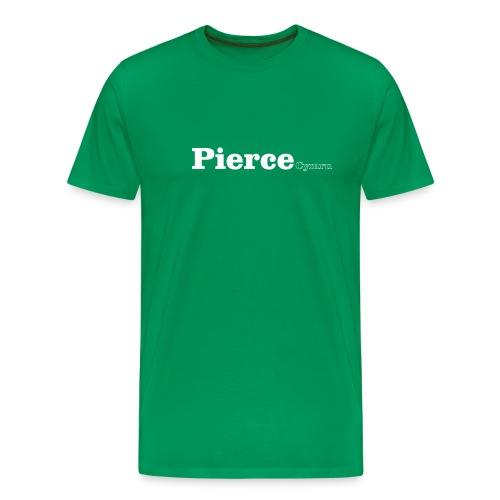 Pierce Cymru white text - Men's Premium T-Shirt