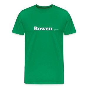 Bowen Cymru white text - Men's Premium T-Shirt