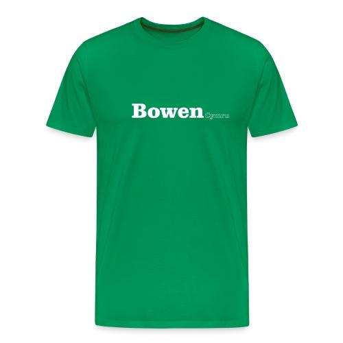 Bowen Cymru white text - Men's Premium T-Shirt