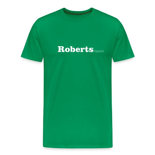 Roberts Cymru white text - Men's Premium T-Shirt