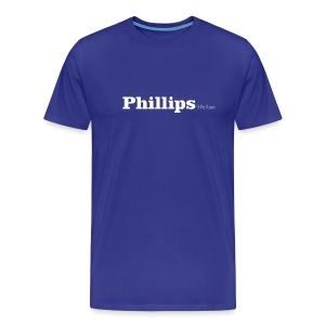 Phillips Wales white text - Men's Premium T-Shirt