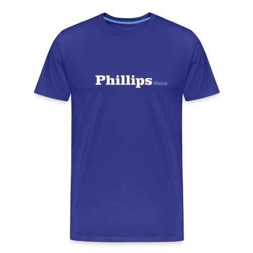 Phillips Wales white text - Men's Premium T-Shirt