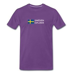 Classic T-Shirt SWEDEN EXPLORER white-lettered - Men's Premium T-Shirt