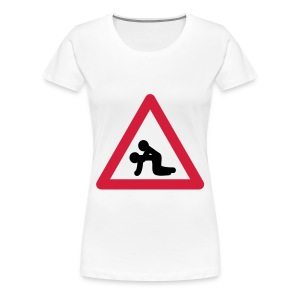 Verkehrstafel Popper - Frauen Premium T-Shirt