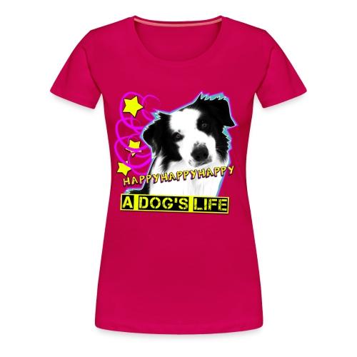 Happy - rubinrot frauenshirt - Frauen Premium T-Shirt