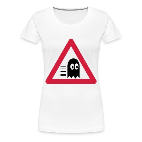 Verkehrstafel Mampfer Monster - Frauen Premium T-Shirt