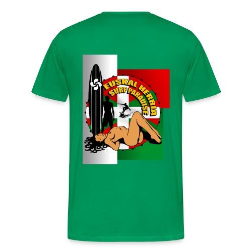 t-shirt surf pays basque - Men's Premium T-Shirt