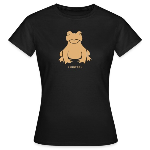 Damen Shirt Frosch Kröte beige Tiershirt Shirt Tiermotiv - Frauen T-Shirt
