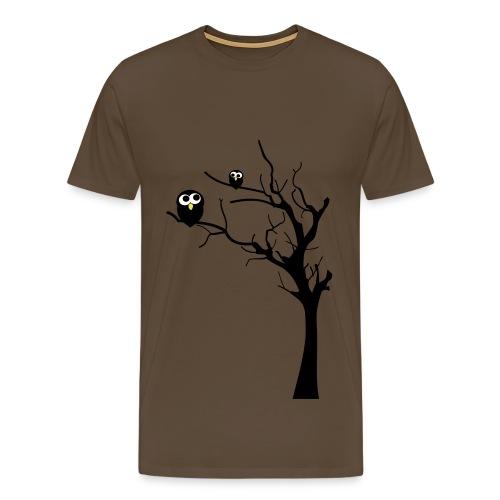 Eulen auf einem Baum - Männer Premium T-Shirt