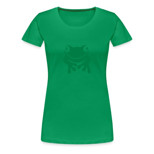Damen Shirt Frosch Unke grün Tiershirt Shirt Tiermotiv - Frauen Premium T-Shirt