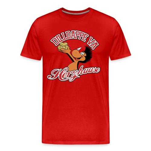 Dilldappe va Herzhuuse - Männer Premium T-Shirt