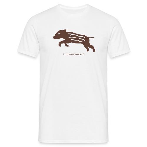 Herren Shirt Wildschwein Ferkel Jungwild braun Tiershirt Shirt Tiermotiv - Männer T-Shirt