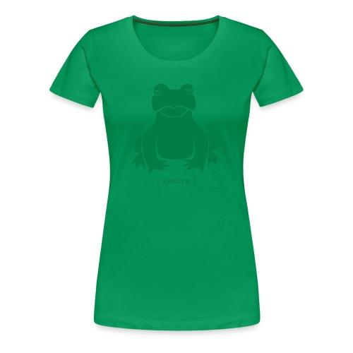 Damen Shirt Frosch Kröte grün Tiershirt Shirt Tiermotiv  - Frauen Premium T-Shirt