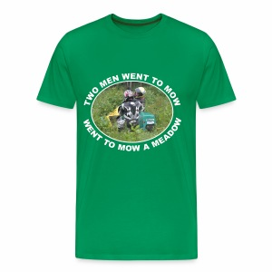 Two men went to mow, went to mow a meadow - Men's Premium T-Shirt