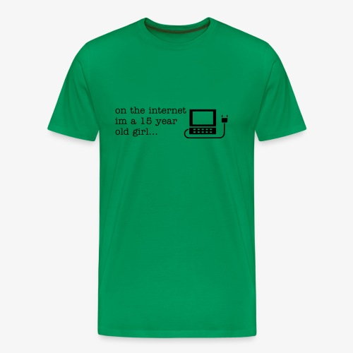 Schoolgirl on the Internet - English - Men's Premium T-Shirt