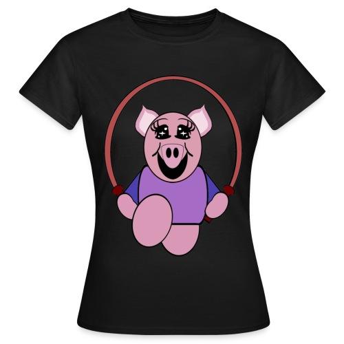 T shirt femme cochon - T-shirt Femme