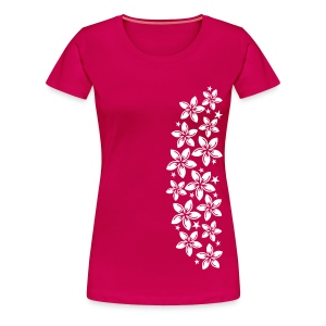 pinkes Girlie-Shirt caribean flowers 6 - Frauen Premium T-Shirt