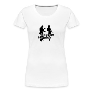 weisses Girlie Shirt Keep on skankin 3 - Frauen Premium T-Shirt