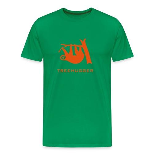 Shirt Faultier Tiermotiv Tiershirt faul Tier treehugger baum wald bäume tree hugging - Männer Premium T-Shirt