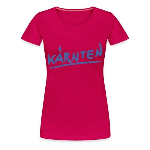 Kärnten Girlieshirt pink - Frauen Premium T-Shirt