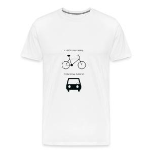 Car vs Bike - Mannen Premium T-shirt