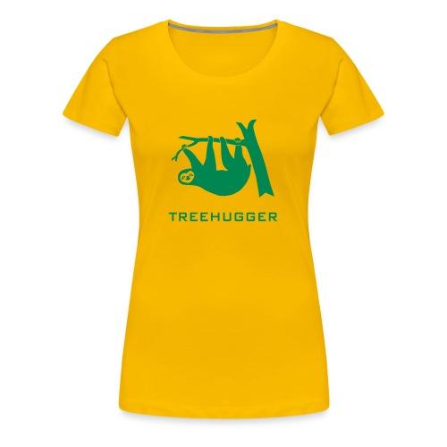 Shirt Faultier Tiermotiv Tiershirt faul Tier treehugger baum wald bäume tree hugging - Frauen Premium T-Shirt