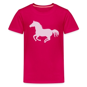Shirt Pferd Pony Horse wild wildpferd Reiter Reiterin Warmblut Kaltblut Reiten mustang  wildfang tiershirt shirt tiermotiv - Teenager Premium T-Shirt
