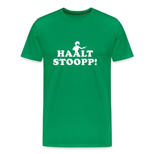 Halt Stopp (beidseitig) - Obwohl man sieht's es ist Obst im Haus - Männer Premium T-Shirt