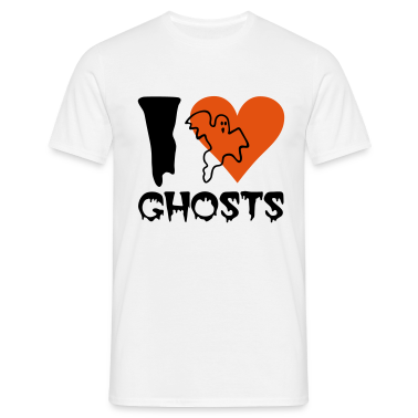White Halloween - Ghost Men's T-Shirts