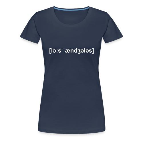 deuchland lautschrift - Frauen Premium T-Shirt