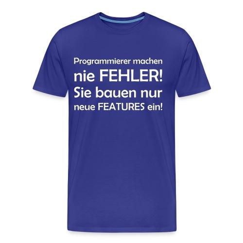 Programmierer machen nie Fehler - Männer Premium T-Shirt